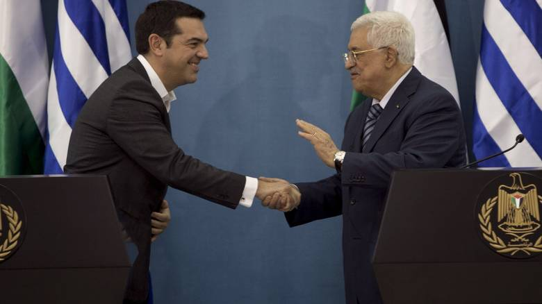 Mahmoud Abbas on an official visit in Athens
