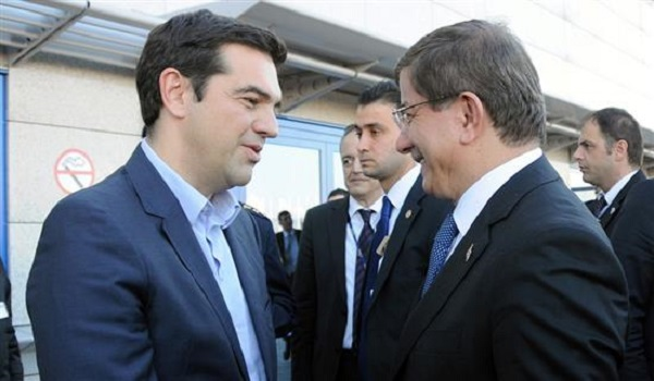 Davutoglu-Tsipras hold meeting in Brussels