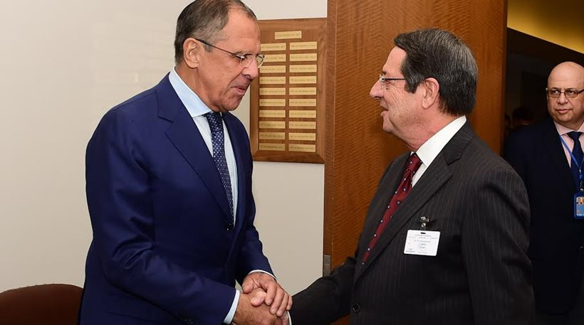 Anastasiades and Lavrov discuss Cyprus, regional issues, and energy