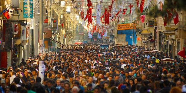 Turkey's population has increased by one million