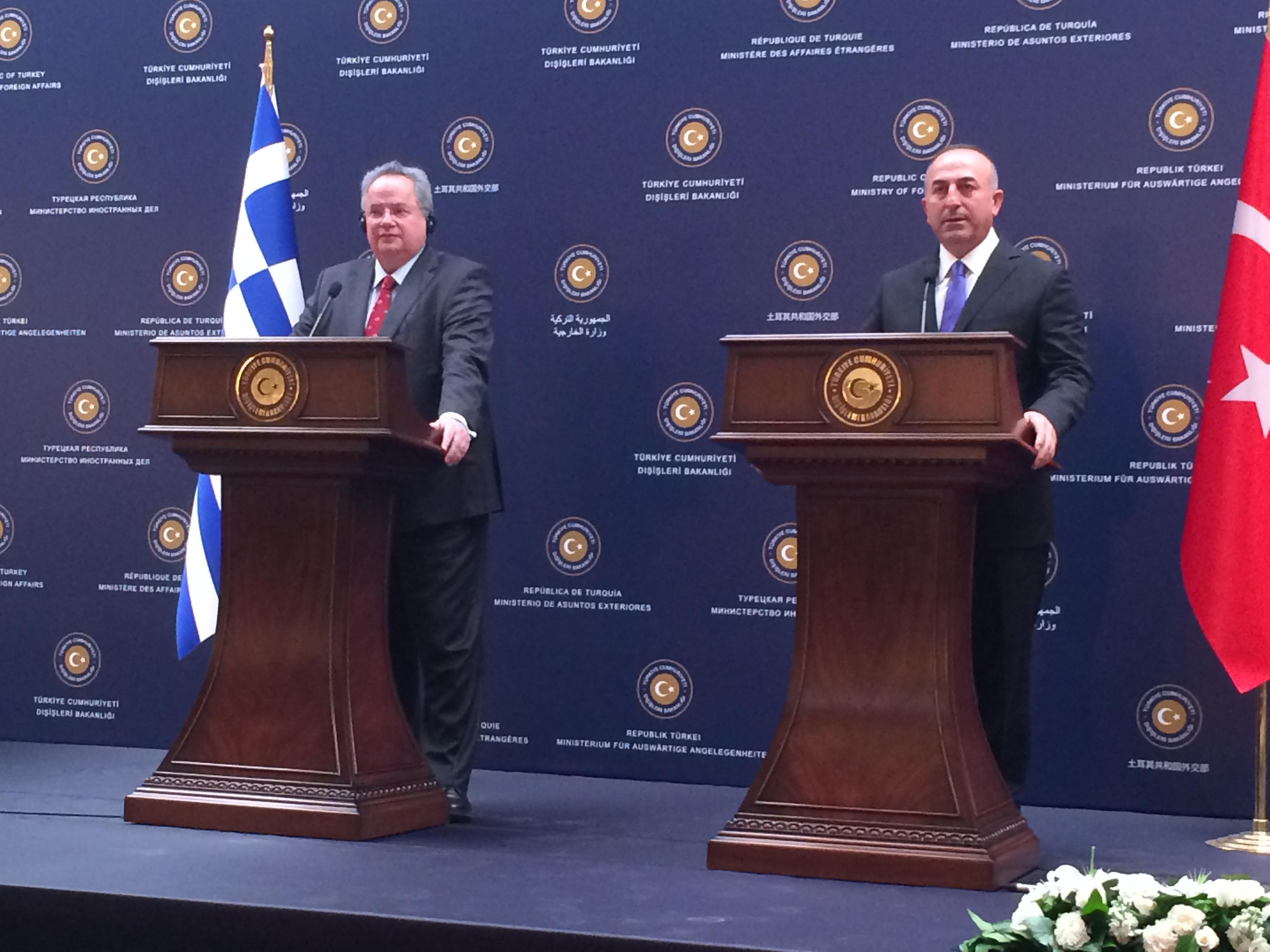 Kotzias – Cavusoglu meeting centers on G2G, Hot Spots and Cyprus problem