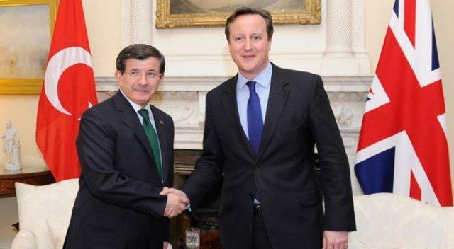 Davutoglu and Cameron exchange views on Syria, ISIS and Cyprus