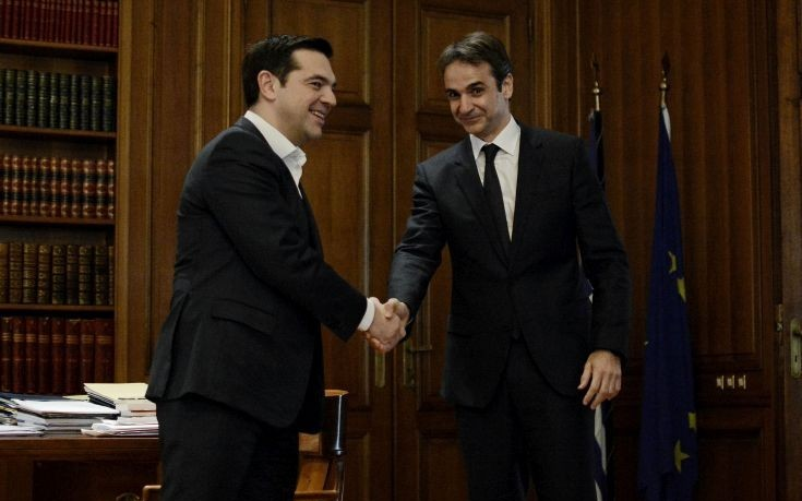 Little room for consensus in first official Tsipras – Mitsotakis meeting