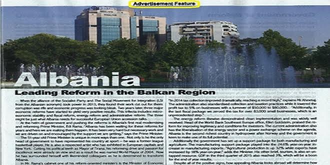 Are articles on Albania in international media being sponsored?
