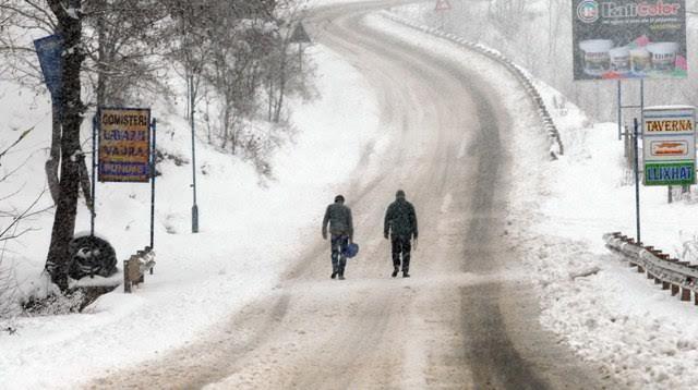 True winter starts in Albania