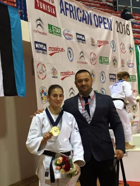 "Nora Gjakova wins the golden medal in ""African Open Tunis"""