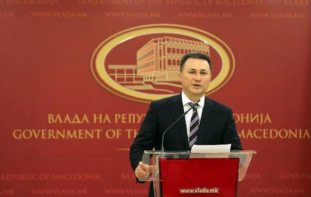Prime Minister Gruevski's resignation speech