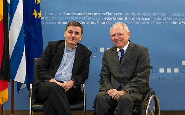 Greece looks for support in reform effort as Eu. Tsakalotos meets with W. Schaeuble