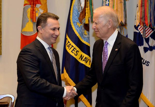 Gruevski meets Biden in Washington