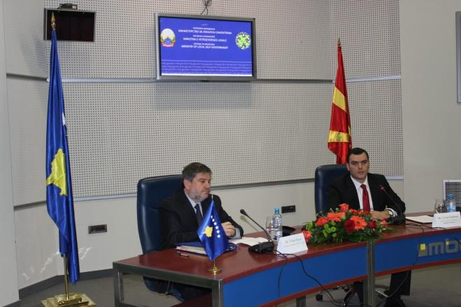 Kosovo and FYROM sign an agreement for cross border cooperation