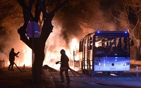Shock in Ankara with terrorist attack aimed at military personnel