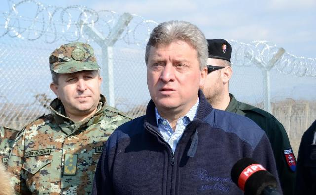 The fence set up on the border has prevented large numbers of illegal refugees, says president Ivanov