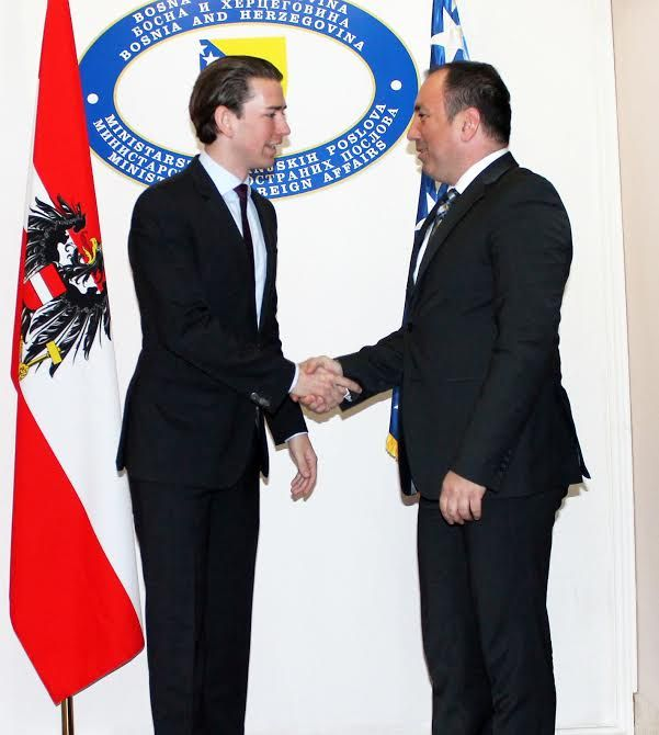 Kurz: Austria supports BiH on European path