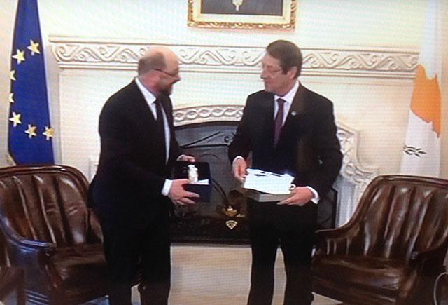 EP President holds talks with President Anastasiades