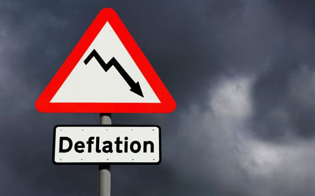 Has the Albanian economy been affected by deflation?