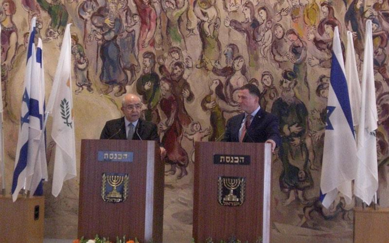 Omirou and Edelstein underline importance of relations between Cyprus and Israel