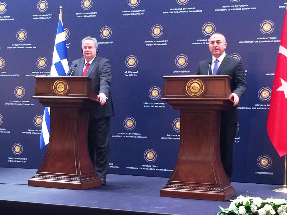 Mevlut Cavusoglu on an official visit to Athens on Friday