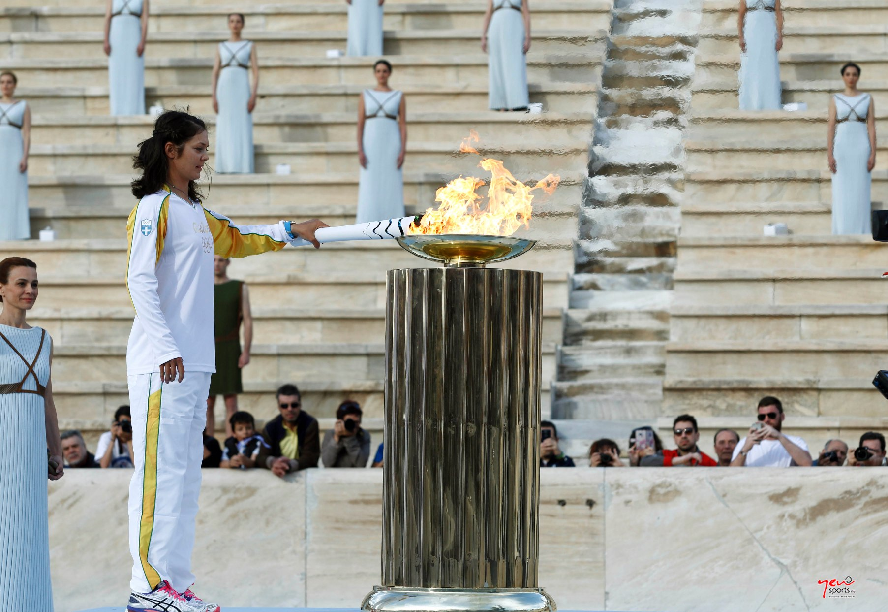 "From ""Kalimarmaro"" stadium began the Olympic Flame trip to Rio"
