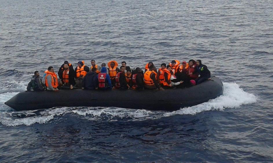 Romanian Border Police save 97 migrants in Aegean Sea