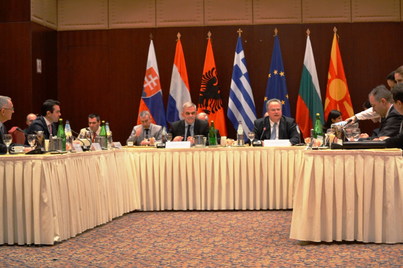 Quadripartite meeting between the Foreign and Interior Ministers of Greece, Albania, Bulgaria and FYROM