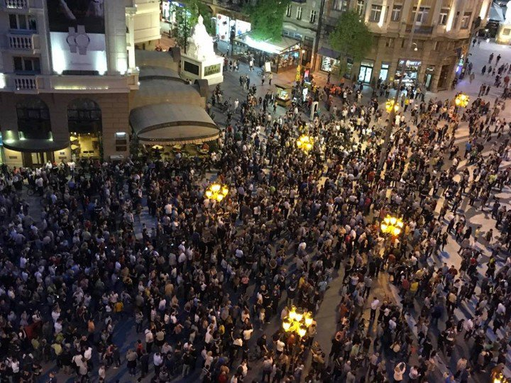 Protests in Skopje and other cities, Ministry of Culture attacked with eggs