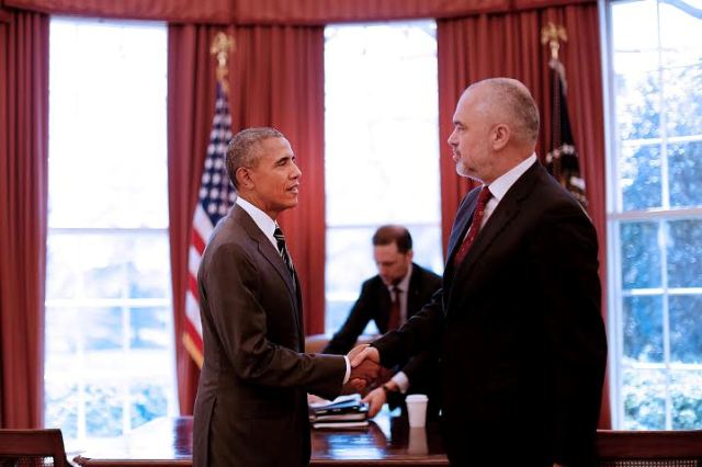 Albanian PM meets US President