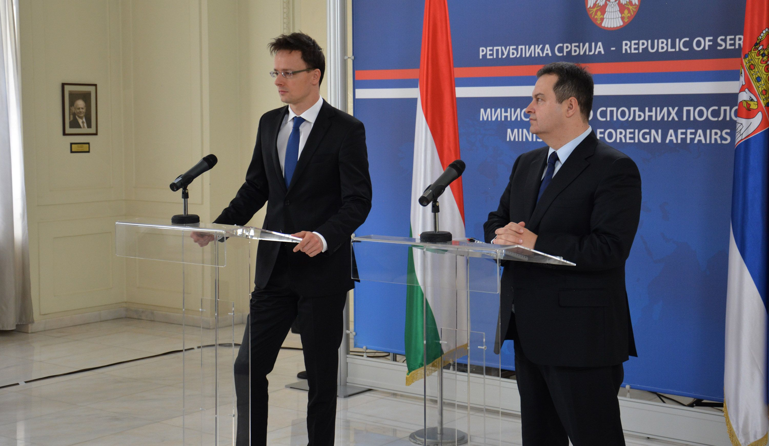Hungary supports Serbia in its row with Croatia