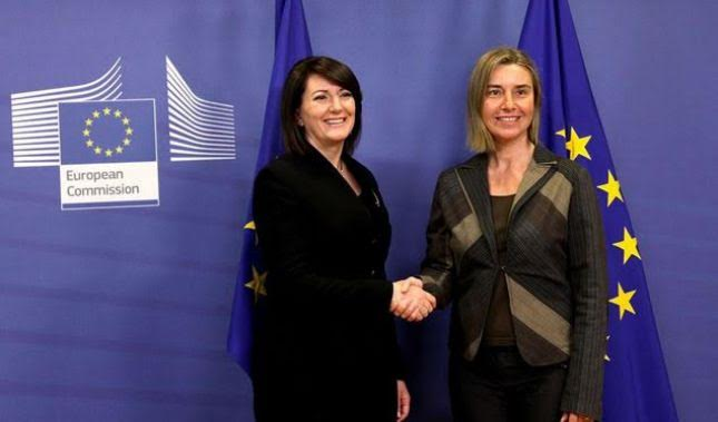 Jahjaga and Mogherini demand reforms for Kosovo's integration in the EU
