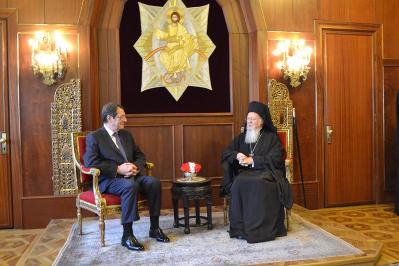 Nicos Anastasiades visited the Ecumenical Throne