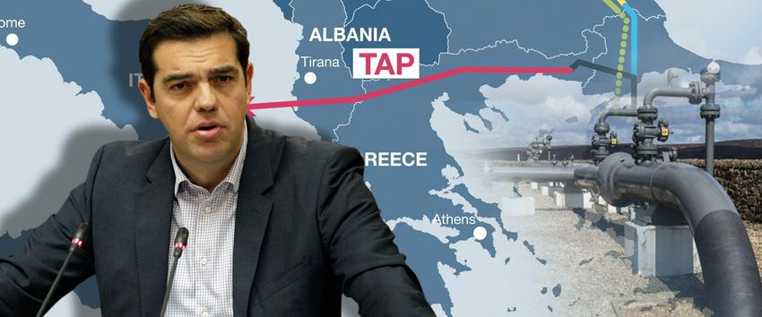 Alexis Tsipras says TAP gas pipeline turns Greece into an energy hub
