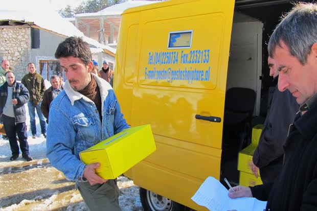 Mail services in Albania have much lower use than the EU