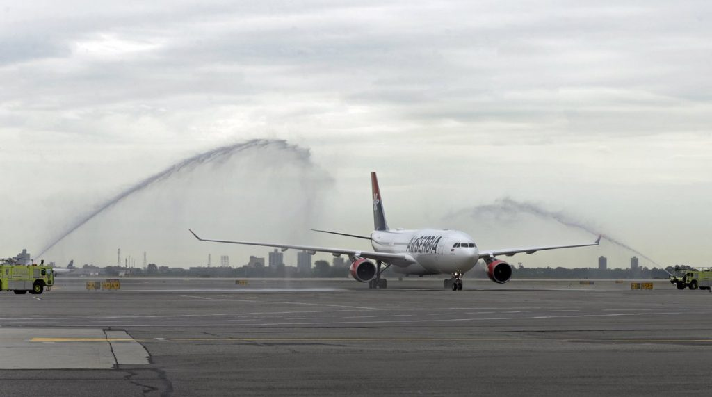 First flight from Belgrade to New York after 25 years