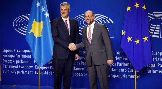 Kosovo's president meets the head of the European Parliament