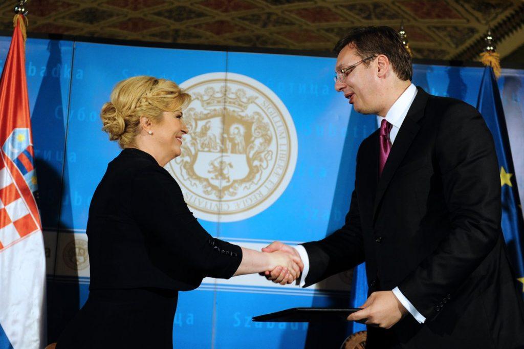 "Vucic, Grabar-Kitarovic sign ""reconciliation"" declaration"