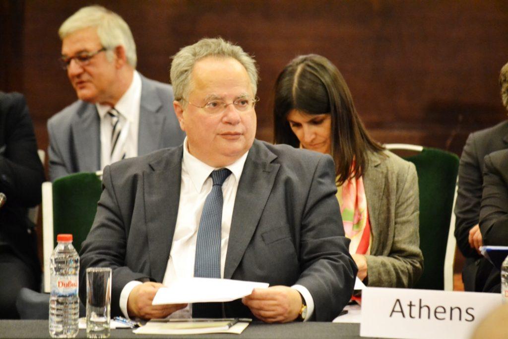 Nikos Kotzias in Luxemburg for the EU Foreign Affaires Council