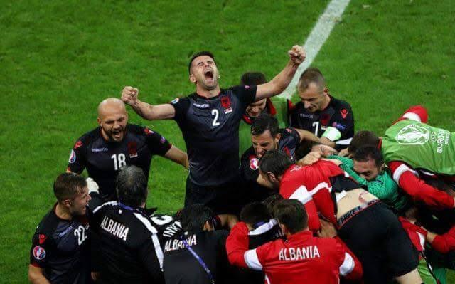 Albania scores its first victory in the Euro 2016