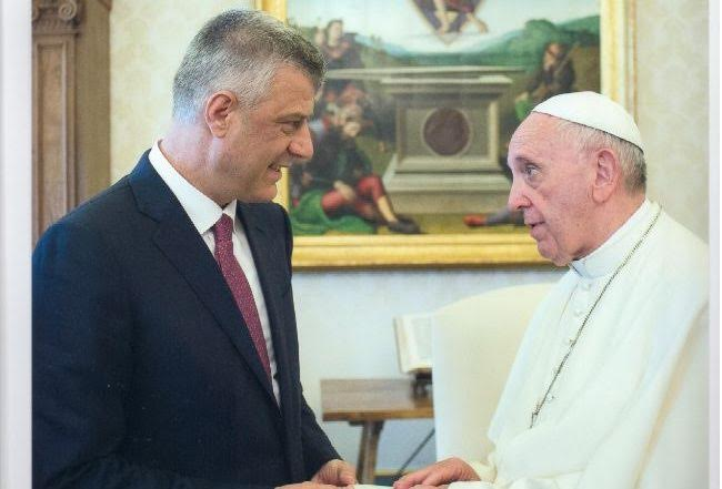 Pope Francis receives President Thaci, Kosovo is a country of religious tolerance