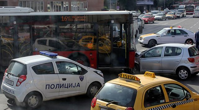 39 accidents during the weekend in Skopje, 1 dead and 34 wounded