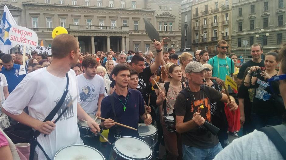 New protests in Belgrade over demolishing