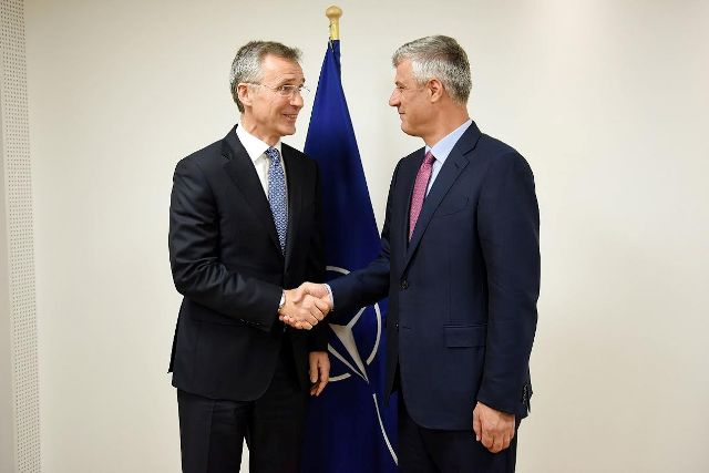 Kosovo is determined to become a NATO member, president Thaci says