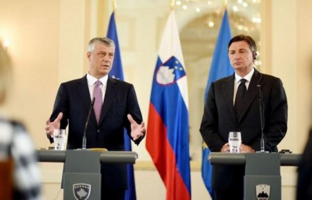 Slovenian president demands Kosovo's international recognition