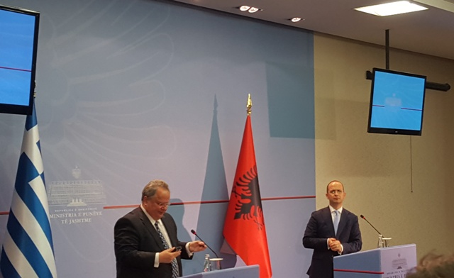 Foreign Ministers of Albania and Greece meet in Tirana