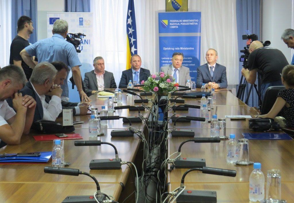 Development of business zones in F BiH