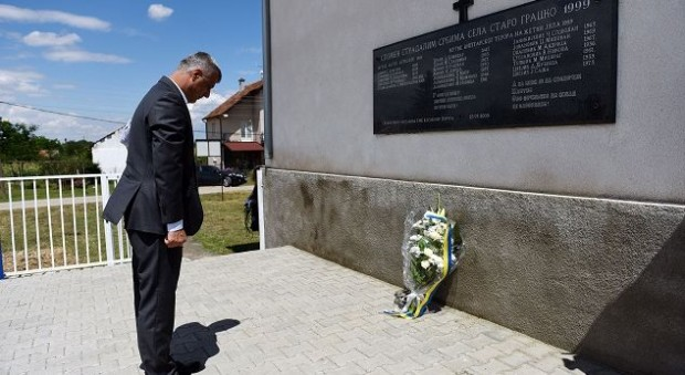 Thaci's homage in the Serb cemetery sparks reactions in Pristina and Belgrade