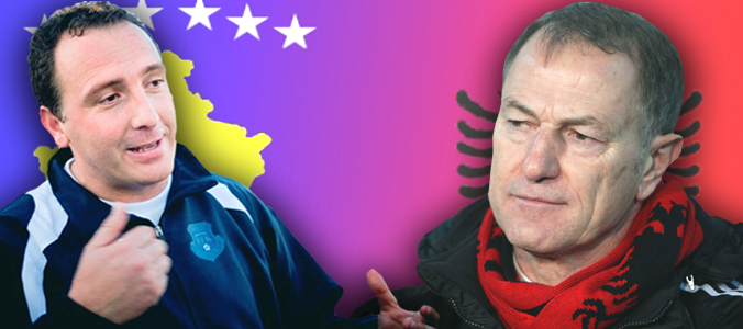 Is De Biasi putting pressure on football players from Kosovo to play for Albania?