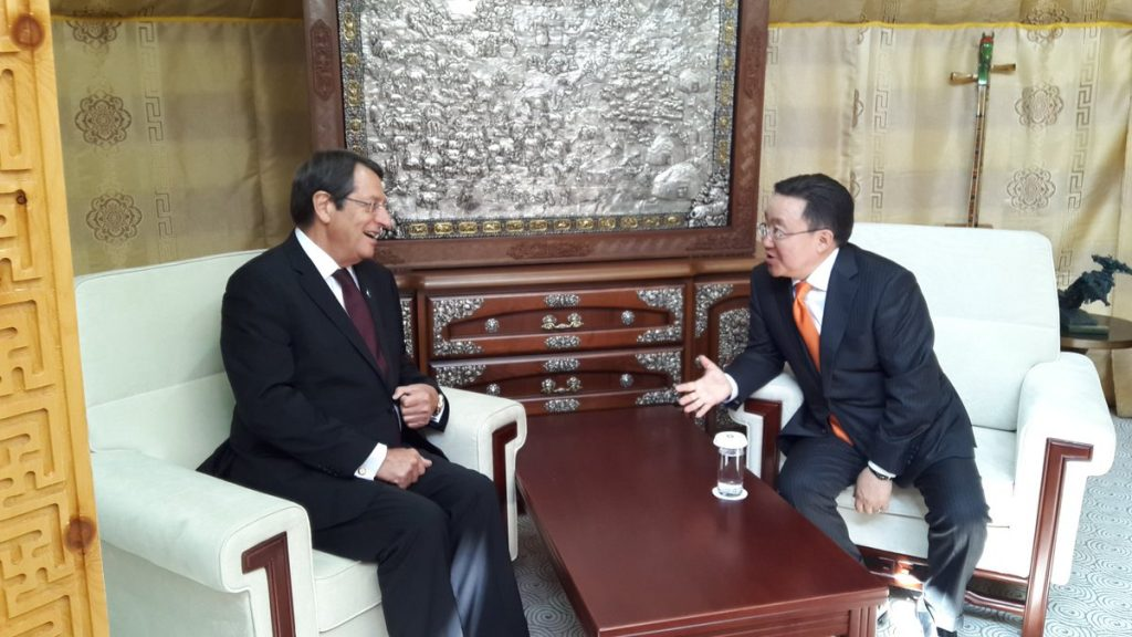 Anastasiades meets state leaders on the sidelines of ASEM Summit in Mongolia