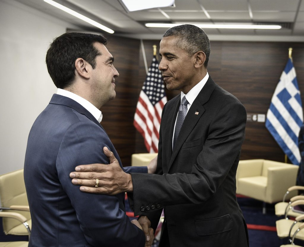 Obama sends strong message of support on debt, refugee issue, in meeting with Tsipras