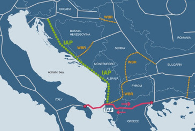 Balkan countries agree on the construction of the Ionian Adriatic Pipeline
