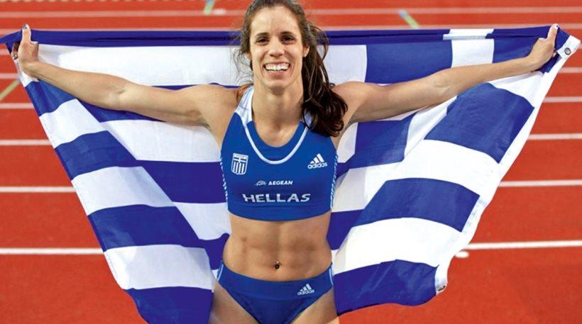 Stefanidi wins gold at pole vault