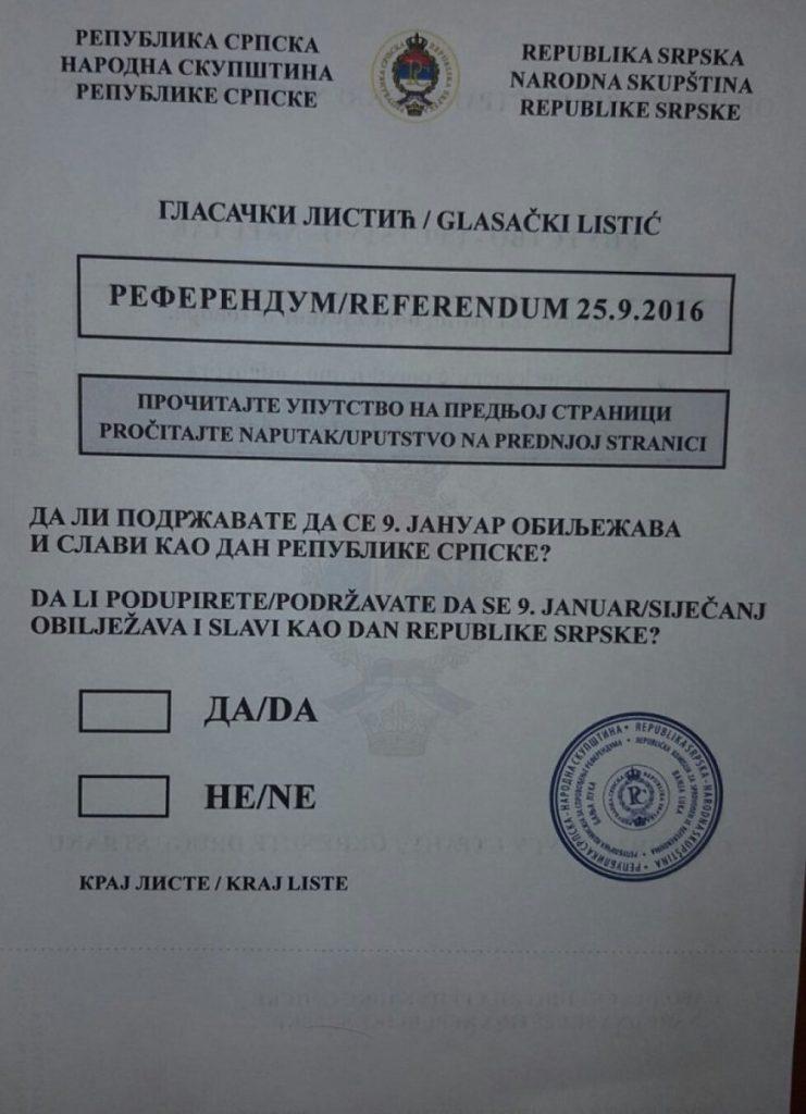 """Referendum war"" begun in BiH"